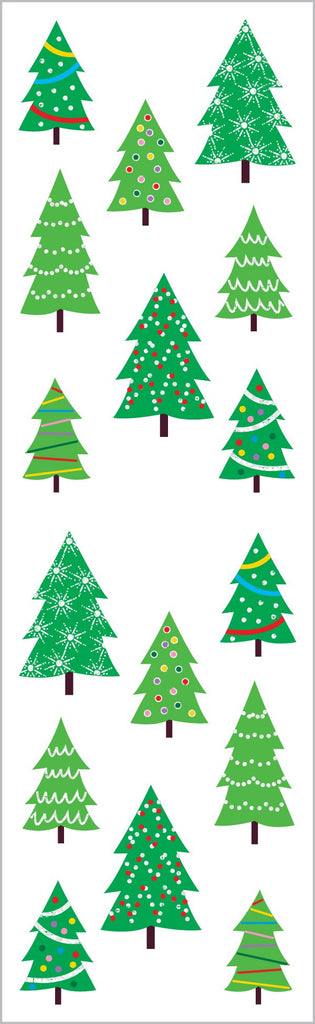 Sparkle Christmas Tree Farm Stickers