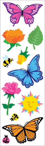 Butterlies And Flowers Stickers