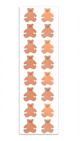 Rose Gold Bear Stickers