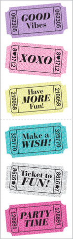 Fun Tickets Stickers