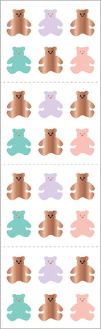 Rose Gold Bears Stickers