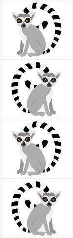 Lively Lemurs Stickers