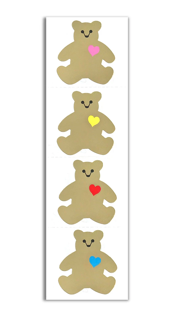 Gold Classic Bear Stickers