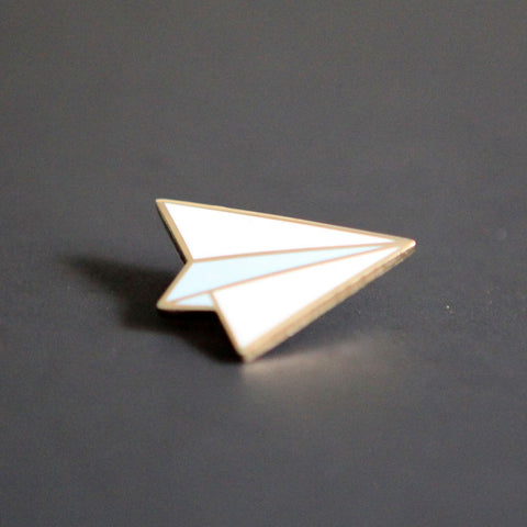 Paper Airplane Pin