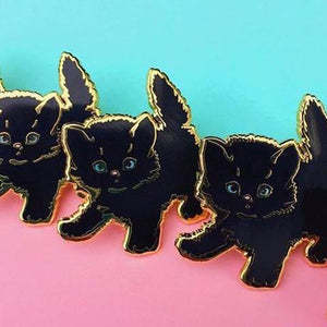 Black Kitty Pin