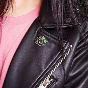 Black Rose Pin