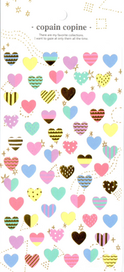 CC Hearts Sticker Sheet