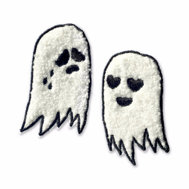 Chenille Ghost Pair Sew-on Patch