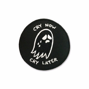 Cry Now Cry Later Black Patch