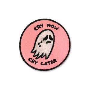 Cry Now Cry Later Pink Patch