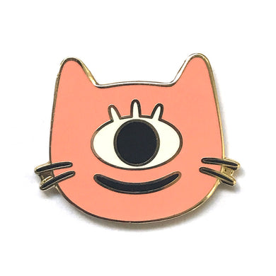 Cyclops Cat Enamel Pin