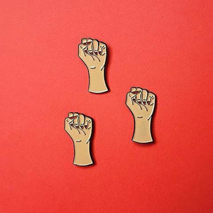 Girl Power Brown Pin