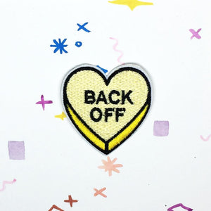 Back Off Candy Heart Patch