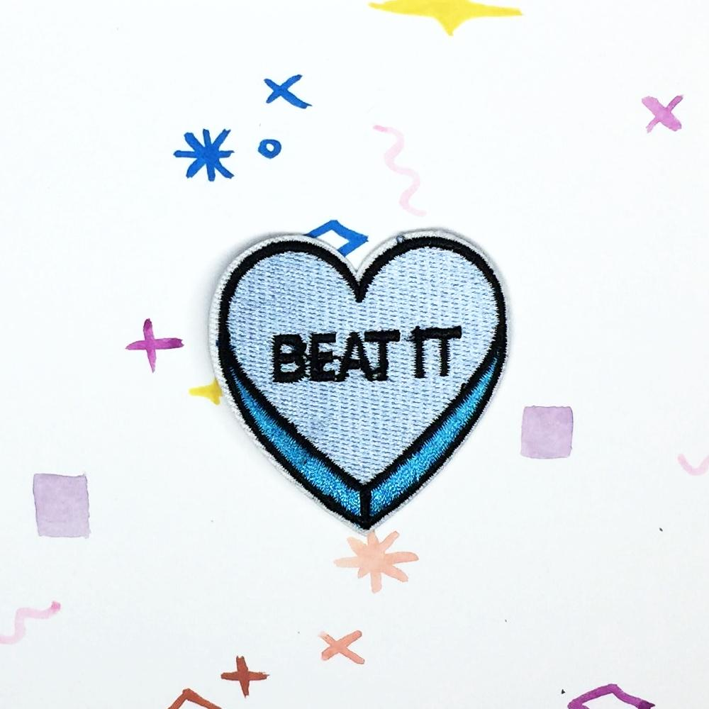 Beat It Candy Heart Patch
