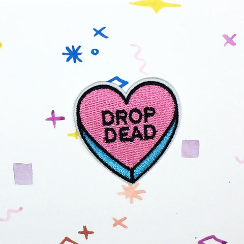 Drop Dead Candy Heart Patch