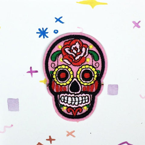 Pink Sugar Skull Patch