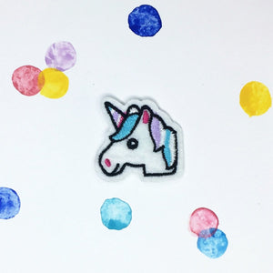 Small Unicorn Emoji Patch