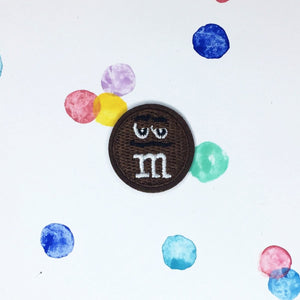 Small Brown M&M Patch