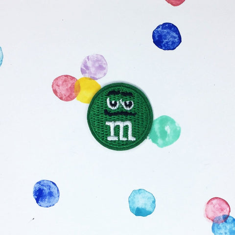 Small Green M&M Patch