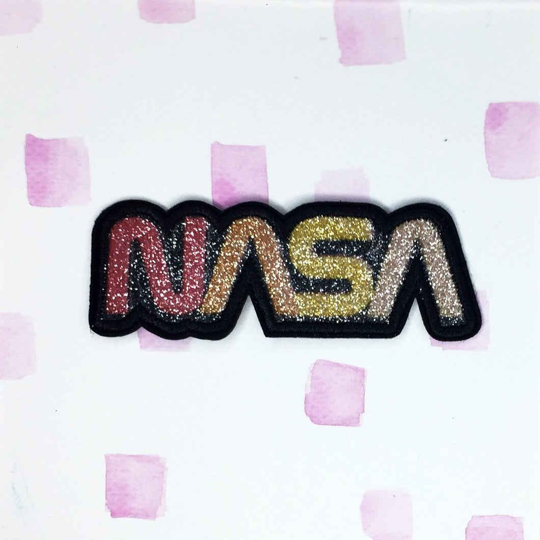 Glitter NASA Patch