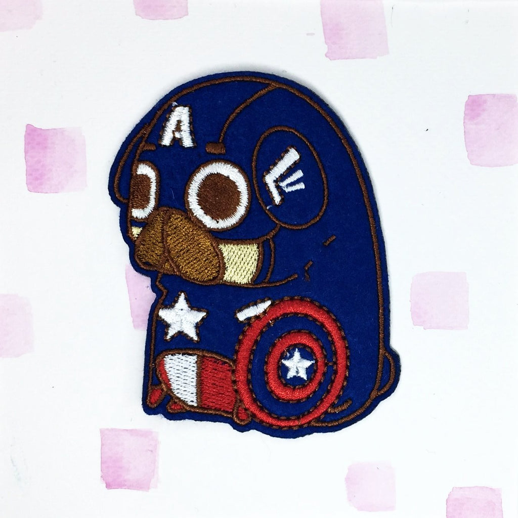 Captain America Pug Patch