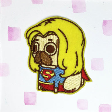 Supergirl Pug Patch