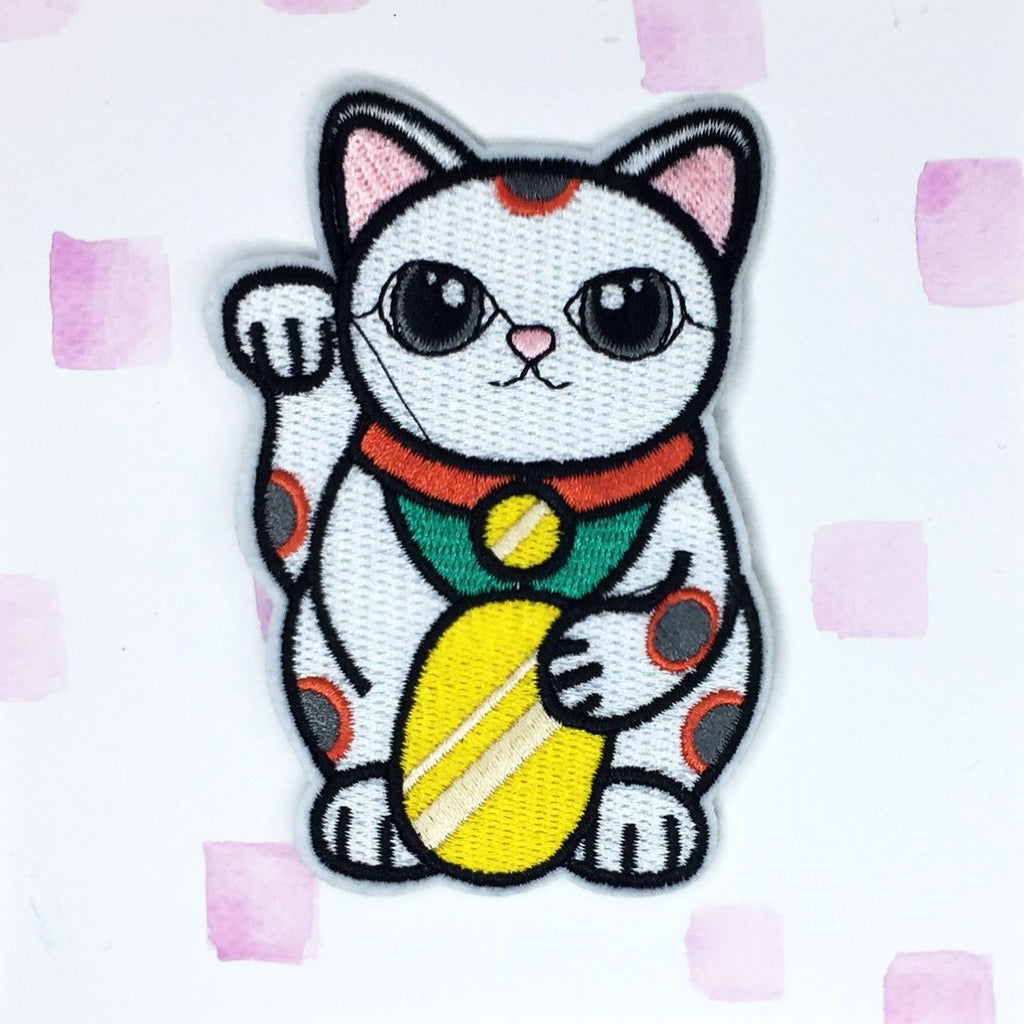 Large Lucky Cat Patch