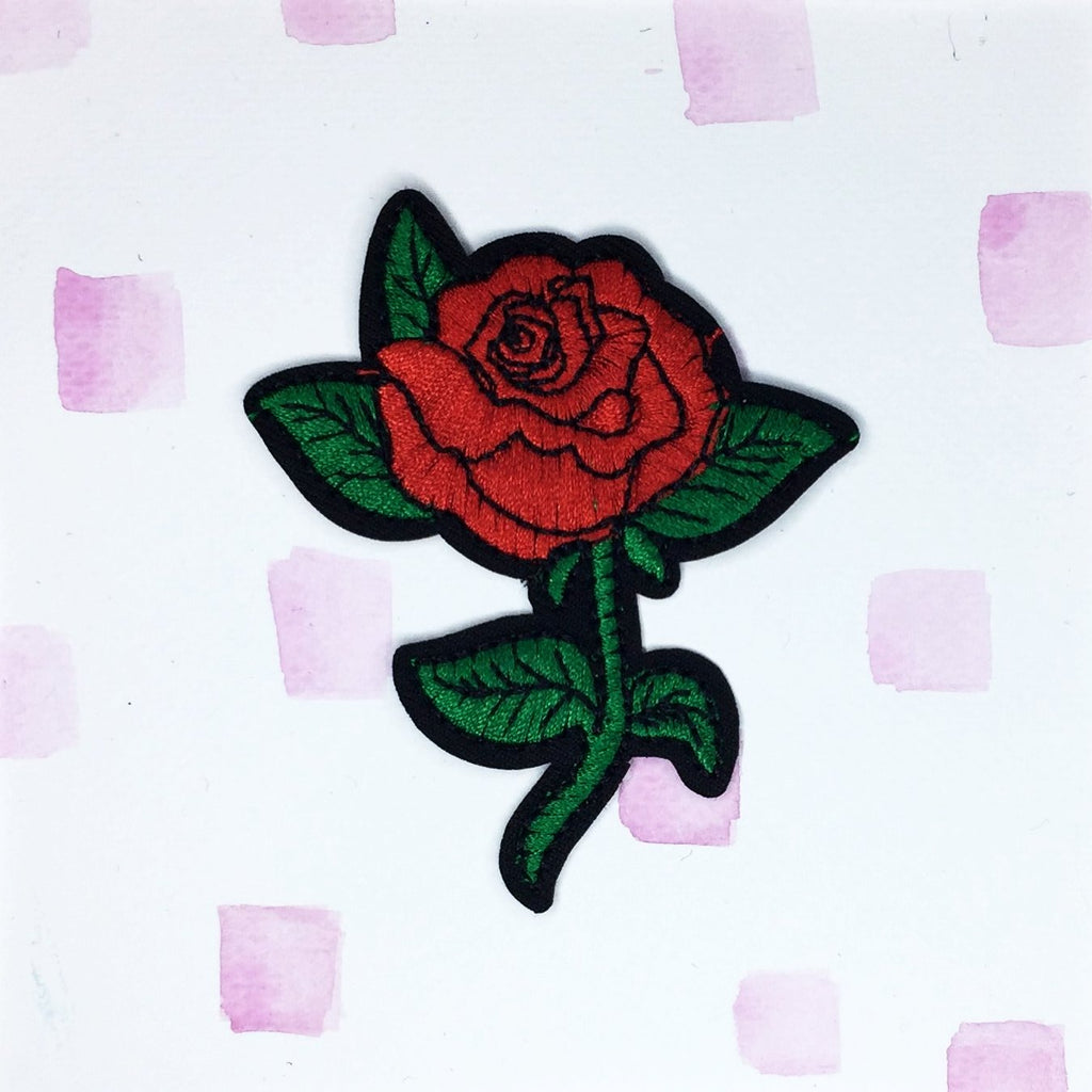 Large Red Rose A Patch
