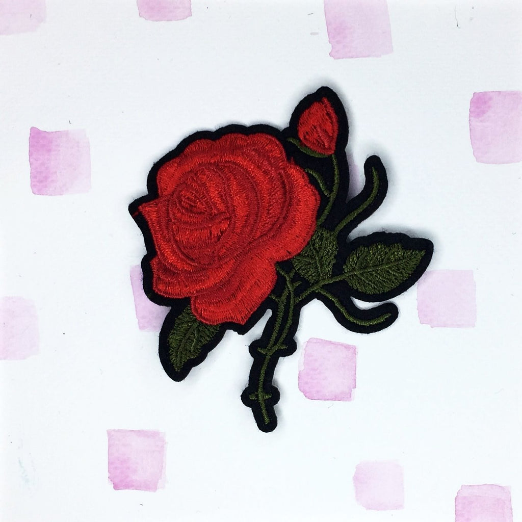 Large Red Rose B Patch