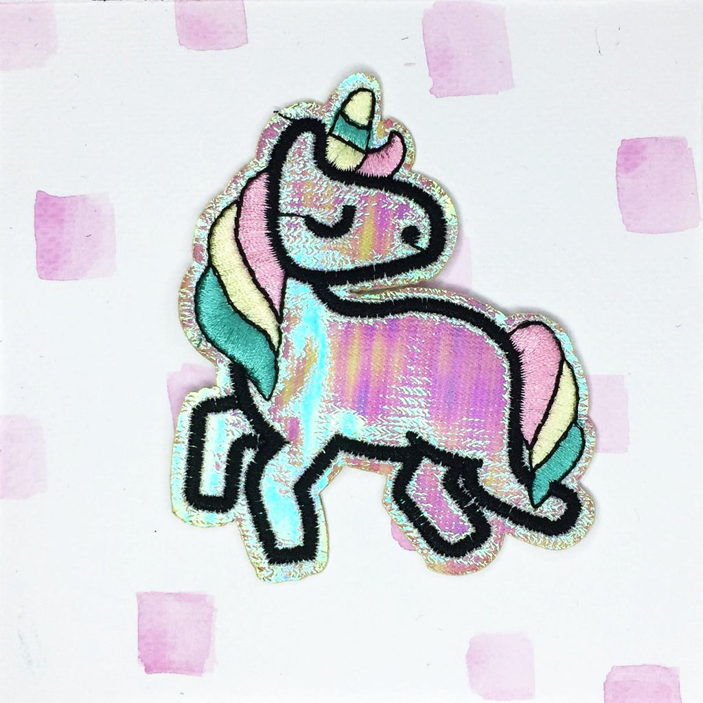 Pink Shimmer Unicorn Patch