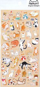 Nekoni Playful Cats Sticker Sheet
