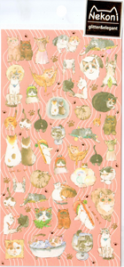 Nekoni Shiny Cats Sticker Sheet
