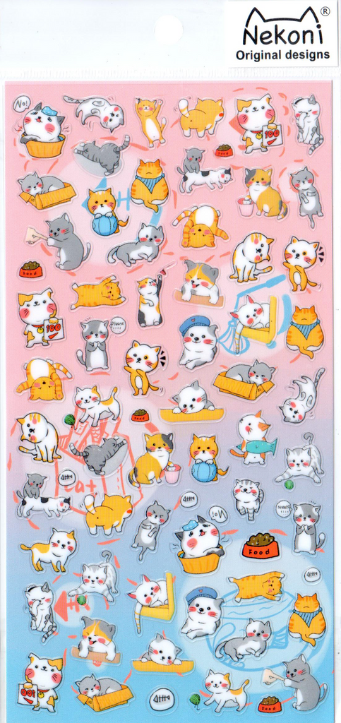 Nekoni Small Kittens Sticker Sheet