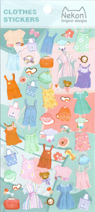 Nekoni Clothes Sticker Sheet