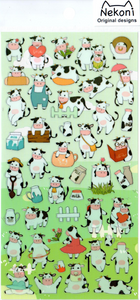 Nekoni Cows Sticker Sheet