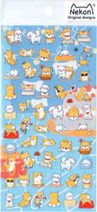 Nekoni Small Puppies Sticker Sheet
