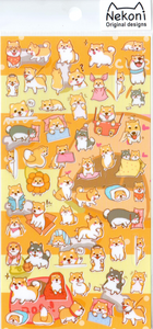 Nekoni Shiba Inu Puppies Sticker Sheet
