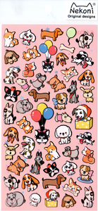 Nekoni Silly Puppies Sticker Sheet