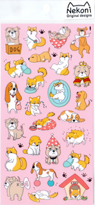 Nekoni Confused Dogs Sticker Sheet
