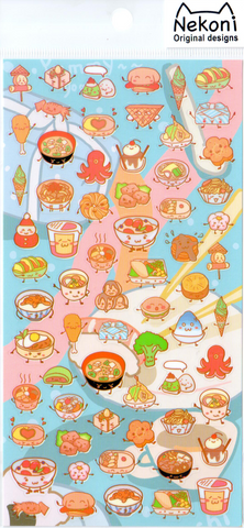 Nekoni Fun Food Sticker Sheet