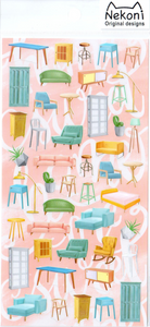 Nekoni Furniture Sticker Sheet