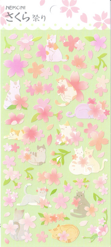 Nekoni Pastel Cats Sticker Sheet
