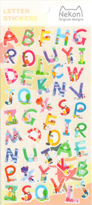 Nekoni Letters Sticker Sheet