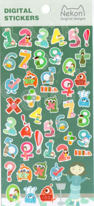 Nekoni Numbers Sticker Sheet