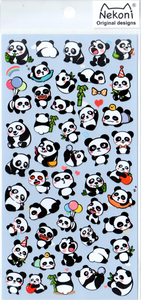 Nekoni Cute Pandas Sticker Sheet