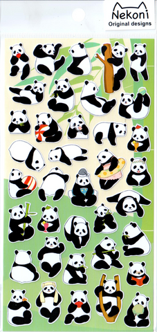 Nekoni Silly Pandas Sticker Sheet