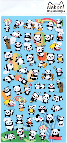 Nekoni Small Pandas Sticker Sheet