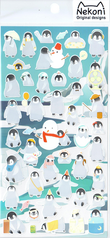 Nekoni Penguins Sticker Sheet
