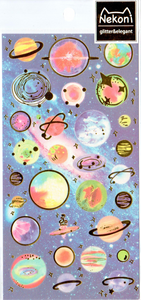 Nekoni Planets Sticker Sheet