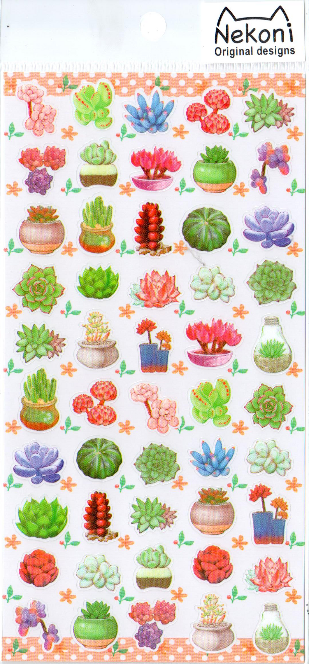 Nekoni Succulents Sticker Sheet